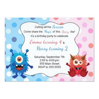 Convite do aniversário de criança do monstro