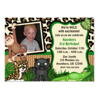 Convite do aniversário de criança do safari de