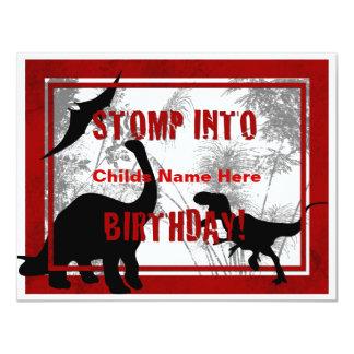 Convite do aniversário de Dino