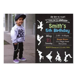 Convite do aniversário de Hip Hop
