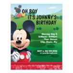 Convite do aniversário de Mickey Mouse