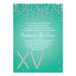 convite do aniversário de Quinceanera do diamante
