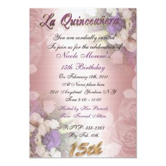 Convite do aniversário de Quinceanera do La 15o