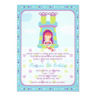 Convite do aniversário de Rapunzel Convite 12.7 X 17.78cm