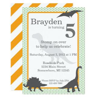 Convite do aniversário de Rex do tiranossauro
