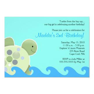 Convite do aniversário de Seaturtle 5x7 do recife