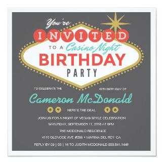Convite do aniversário de Viva Las Vegas