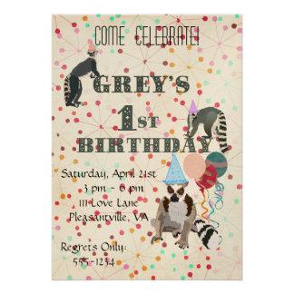 Convite do aniversário do abstrato do divertimento