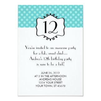 Convite do aniversário do adolescente das bolinhas
