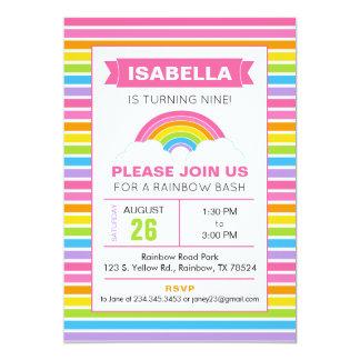 Convite do aniversário do arco-íris
