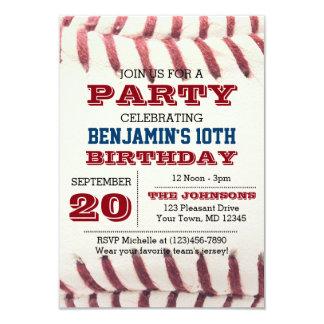Convite do aniversário do basebol