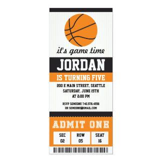 Convite do aniversário do basquetebol