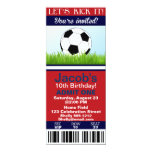 Convite do aniversário do bilhete do futebol