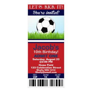 Convite do aniversário do bilhete do futebol custo