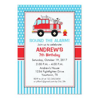 Convite do aniversário do bombeiro