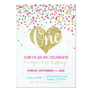 Convite do aniversário do brilho do ouro dos