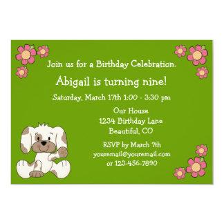 Convite do aniversário do cão de filhote de