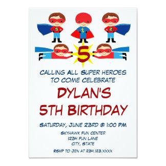 Convite do aniversário do caráter da banda convite 11.30 x 15.87cm