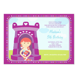 Convite do aniversário do castelo de Rapunzel
