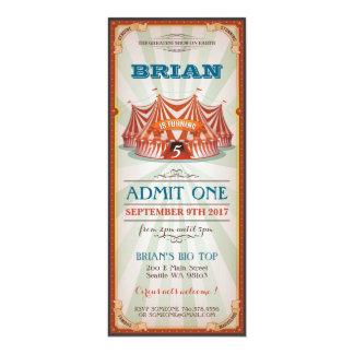 Convite do aniversário do circo
