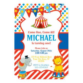 Convite do aniversário do circo - tema do carnaval