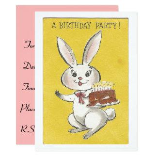 Convite do aniversário do coelho