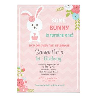 Convite do aniversário do coelho/convite do coelho