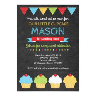 Convite do aniversário do cupcake