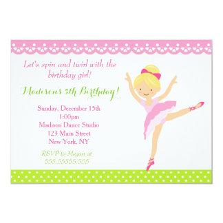 Convite do aniversário do dançarino da bailarina