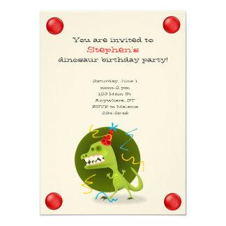 Convite do aniversário do dinossauro