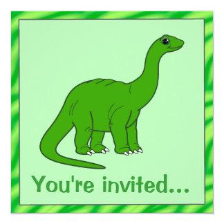 Convite do aniversário do dinossauro: Apatosaurus