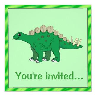 Convite do aniversário do dinossauro: Stegosaurus