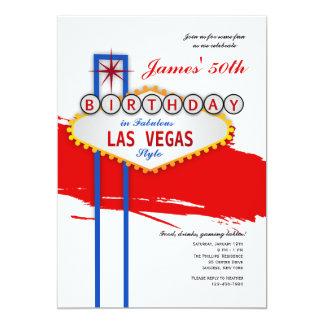 Convite do aniversário do estilo de Las Vegas