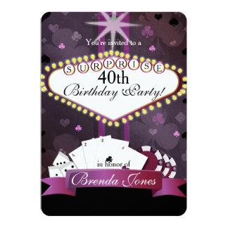Convite do aniversário do estilo de Vegas do