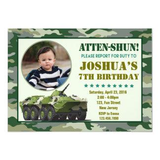 Convite do aniversário do exército