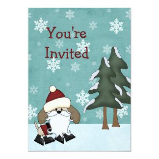 Convite do aniversário do feriado do Natal do cão