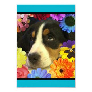 Convite do aniversário do filhote de cachorro e