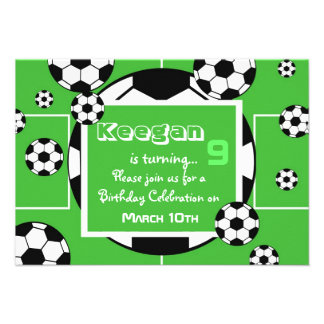 Convite do aniversário do futebol