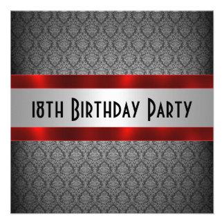 Convite do aniversário do homem 18o