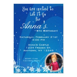 Convite do aniversário do inverno com imagem