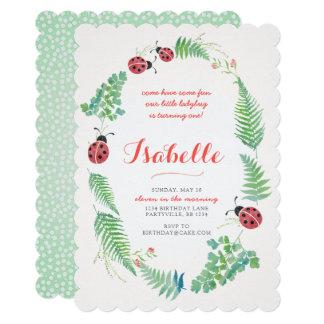 Convite do aniversário do joaninha