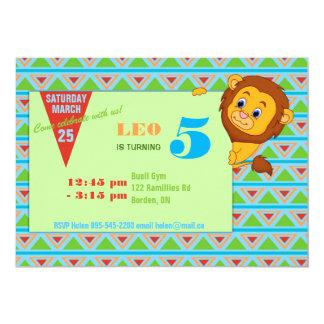 Convite do aniversário do leão
