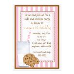 Convite do aniversário do leite e dos biscoitos