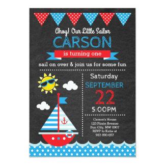 Convite do aniversário do marinheiro