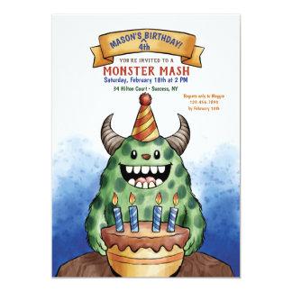 Convite do aniversário do monstro