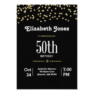 Convite do aniversário do ouro do brilho 50th