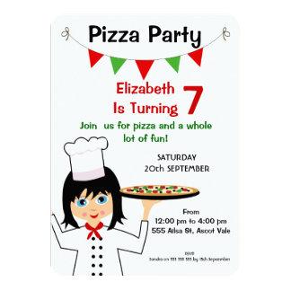 Convite do aniversário do partido da pizza das