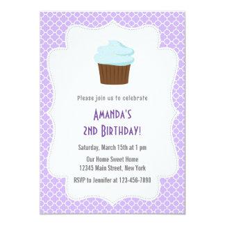 Convite do aniversário do partido do cupcake