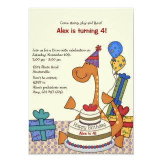 Convite do aniversário do partido do dinossauro