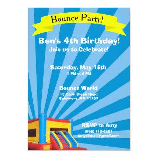 Convite do aniversário do partido do salto